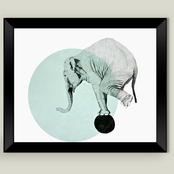 """elephant"" Framed Art Print by Morgan Kendall"