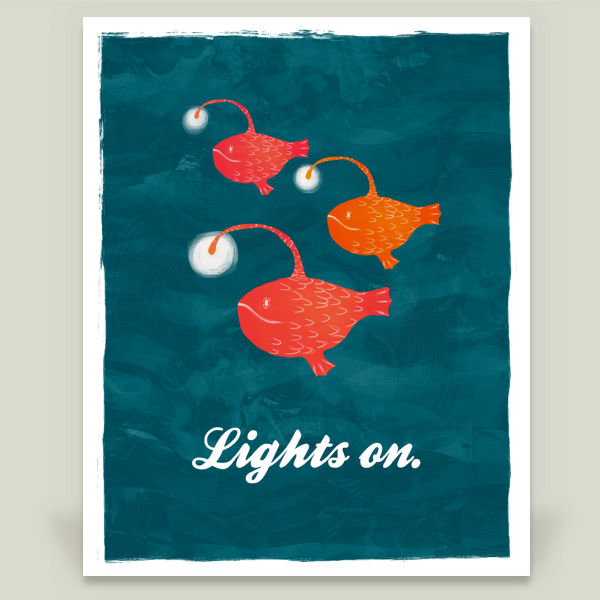 """Lights on"" Wall Cling by Essi Lehto"