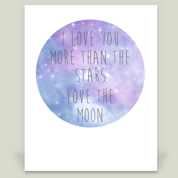 """Stars Love the Moon"" by Bela Wilde, BoomBoom Prints"