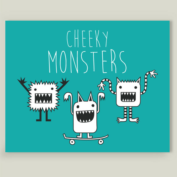 """Cheeky Monsters"" by Lucy Anne, BoomBoom Prints"
