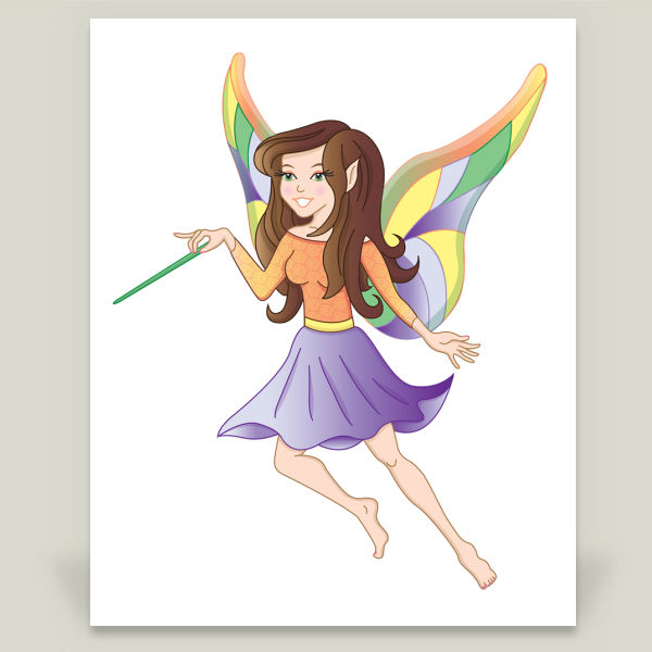 """Fairy Friends Emma"" by Nicole Lindblomb Design, BoomBoom Prints"