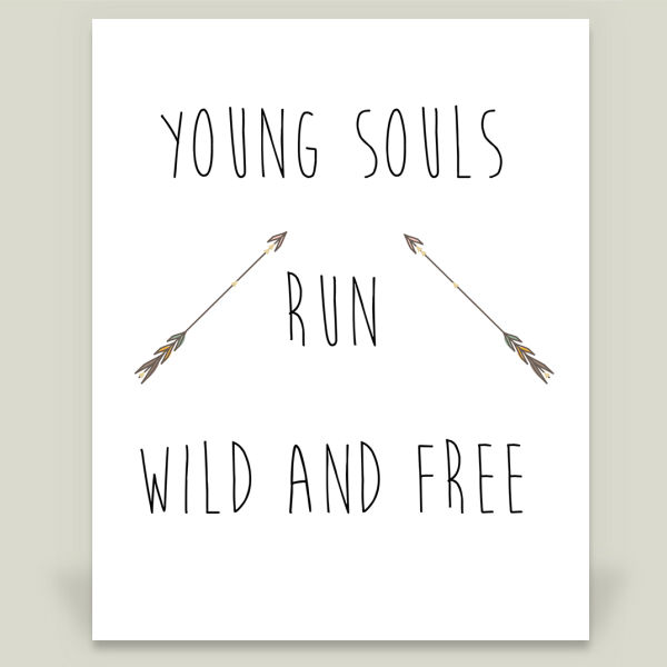 """Young Souls Run Wild and Free"" by Bela Wilde, BoomBoom Prints"