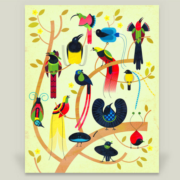 """Birds of Paradise"" by Scott Partridge, BoomBoom Prints"