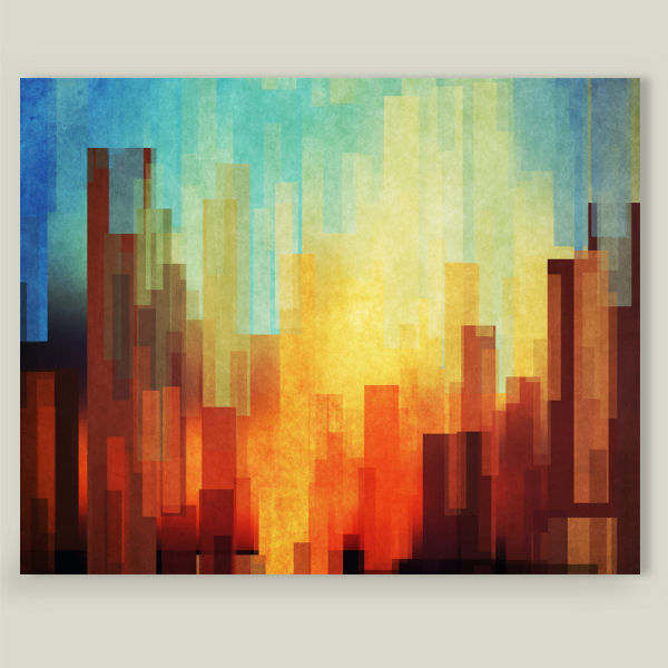 """Urban Sunset"" by DejaReve, BoomBoom Prints"