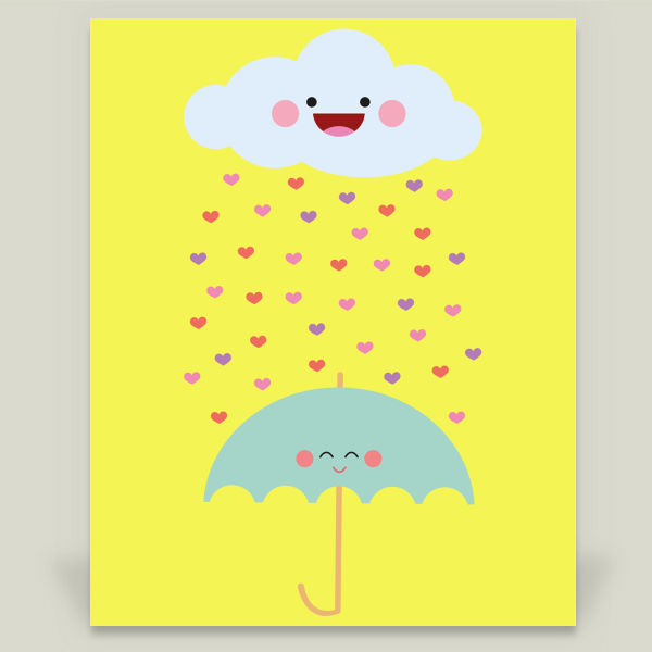 """Love Rain"" by Juliana Motzko, BoomBoom Prints"