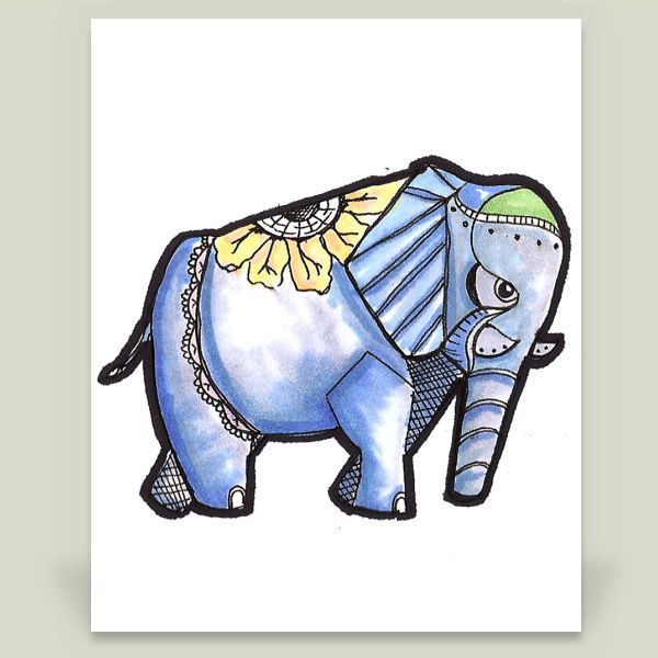 """Robophant"" by Traci Maturo Illustrations, BoomBoom Prints"