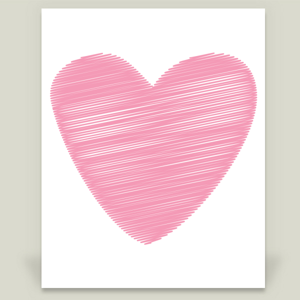 """Pink Heart"" by Aldari Art, BoomBoom Prints"