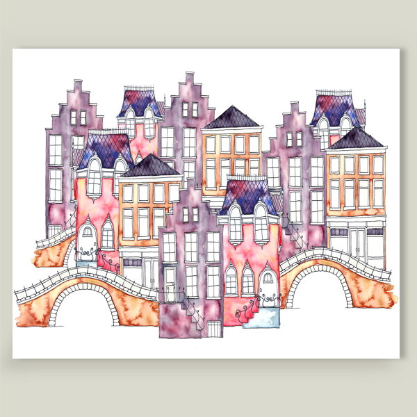 """Amsterdam Pink"" by IsaBella, BoomBoom Prints"