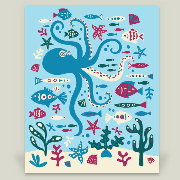 """Ocean Life"" by Lucy Anne, BoomBoom Prints"