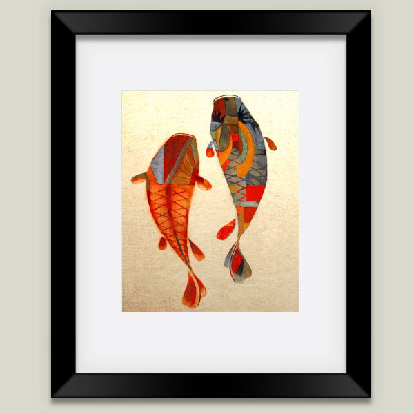 """Kolors Koi"" Framed Art Print by Fernando Vieira"
