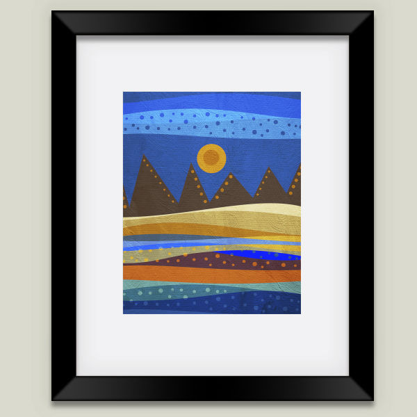 """Textures Abstract 143"" Framed Art Print by Viviana Gonzalez, BoomBoom Prints"