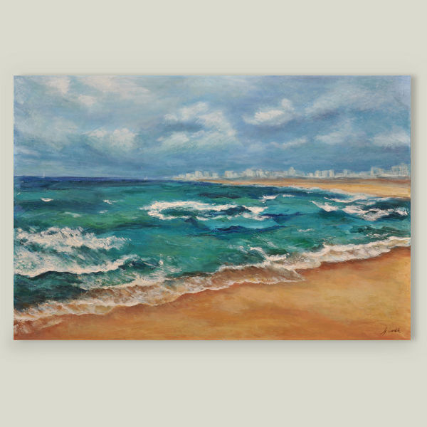 """Mediterranean Sea"" by Alla Gorelik, BoomBoom Prints"