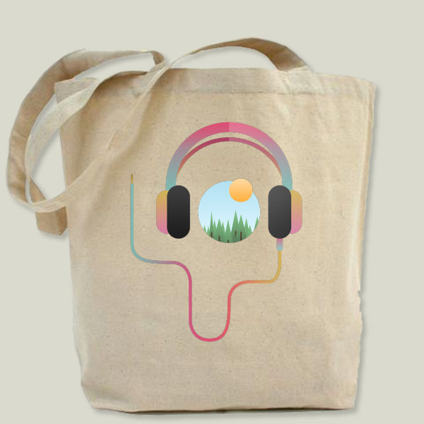 """Summer Beats"" Tote Bag by Moremo"