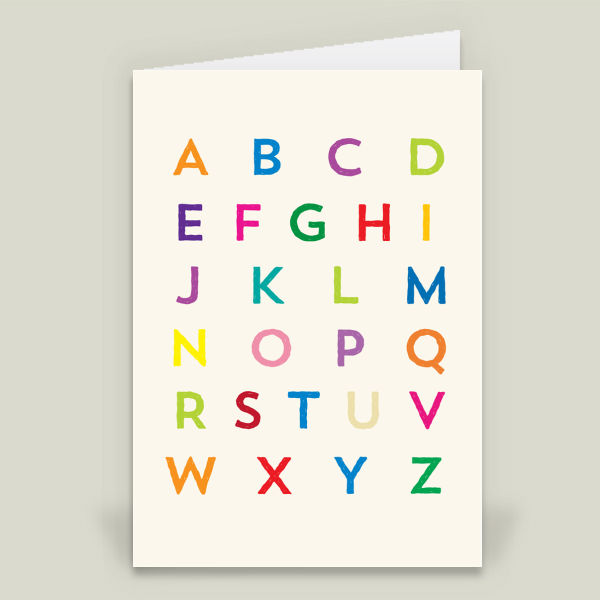 """alphabet"" Folded Card by Justin Kendall"