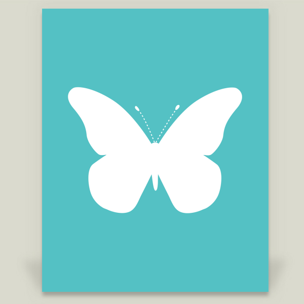 """Blue Butterfly"" by Aldari Art, BoomBoom Prints"