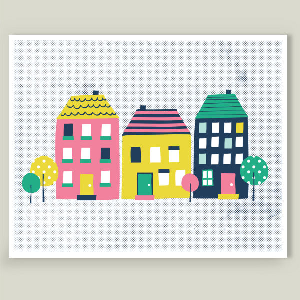 Home Again art print by BoomBoom Print Zoe Wodarz