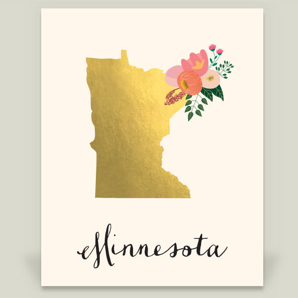 """Minnesota"" by Blue Pear Designs, BoomBoom Prints"