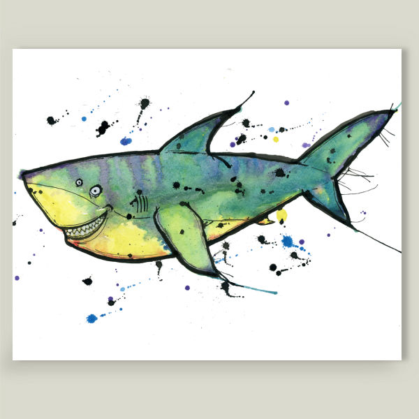 """""""Tiger Shark"""" by Danny Rings, BoomBoom Prints"""