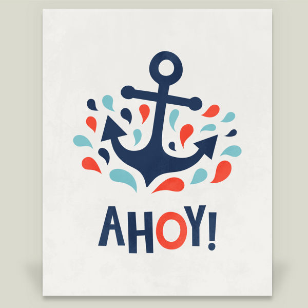 """Ahoy"" by Field and Sky, BoomBoom Prints"
