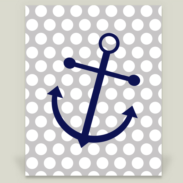 """Blue Anchor and Polka Dots"" by Indulge My Heart, BoomBoom Prints"