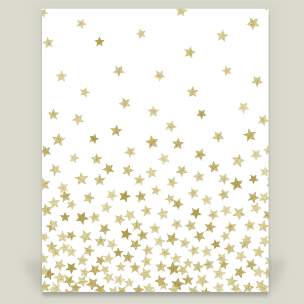 """Stars Gold"" by Kind of Style, BoomBoom Prints"