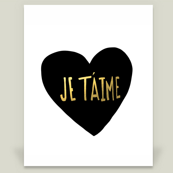 """Je Taime"" by Leah Flores, BoomBoom Prints"