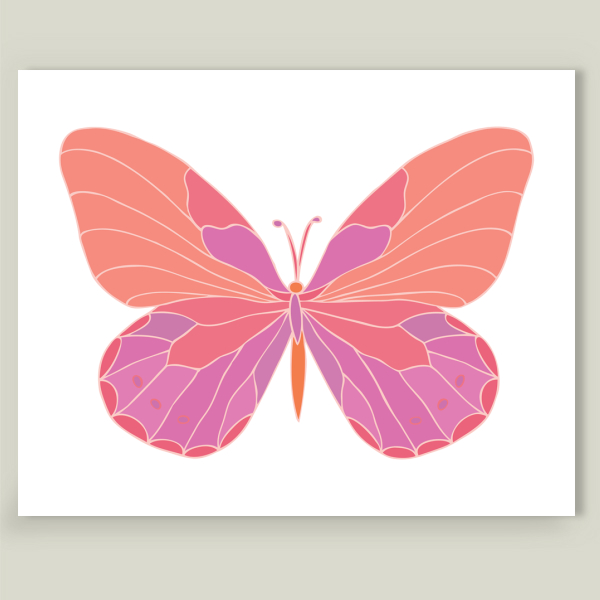 """Beautiful Butterfly"" by Piia Põdersalu, BoomBoom Prints"