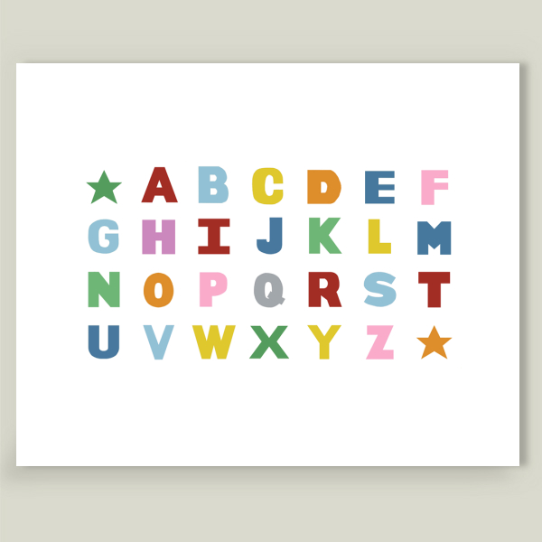 """Alphabet"" by Project M, BoomBoom Prints"