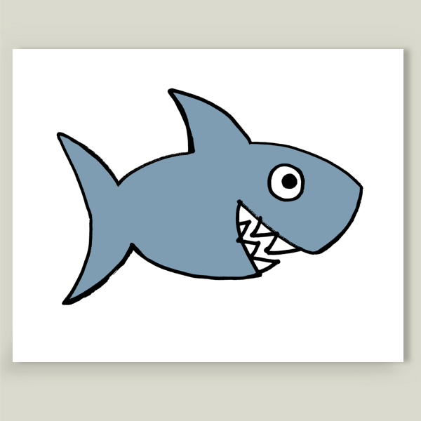 """Shark"" by Saglibene Design, BoomBoom Prints"