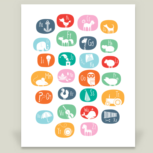 """Alphabet Art"" by Saturday Spoils, BoomBoom Prints"