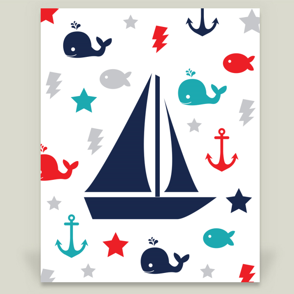 """Sailboat"" by Slightly Sprightly, BoomBoom Prints"
