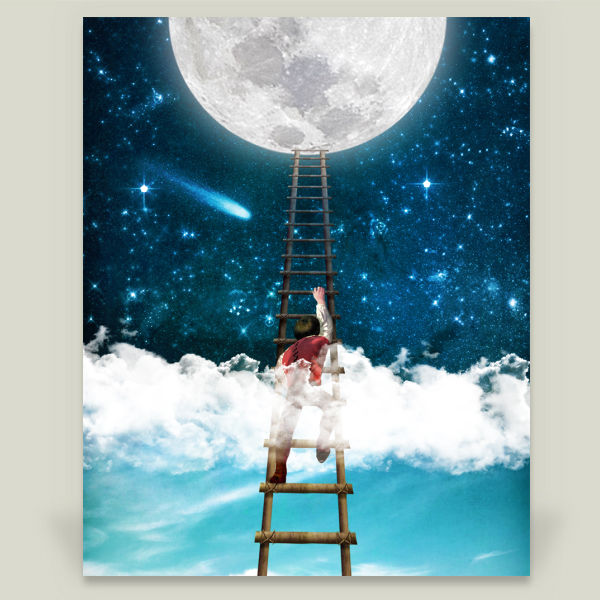 """Reach for the Moon"" Art Print by BBP Artist Diogo Verissimo"