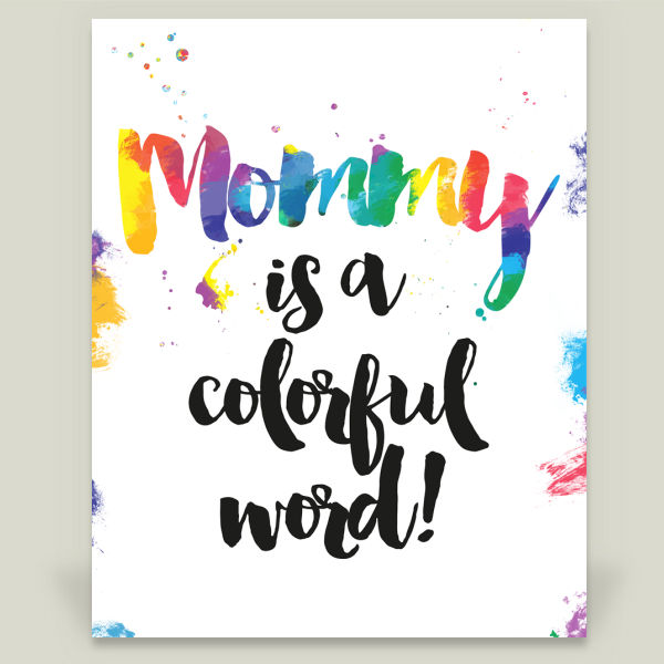 """Colorful word"" Art Print by Alexandre Reis"