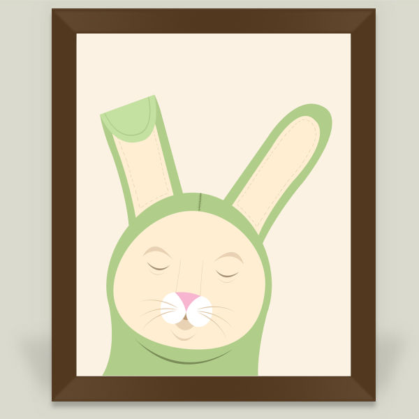 """Sleepy Bunny"" Framed Art Print by Amy Newhouse"