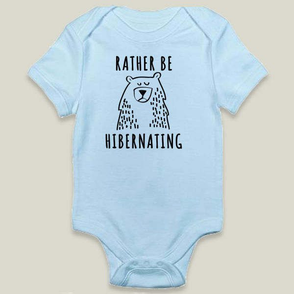 """Rather Be Hibernating"" Onesie by PositIva"