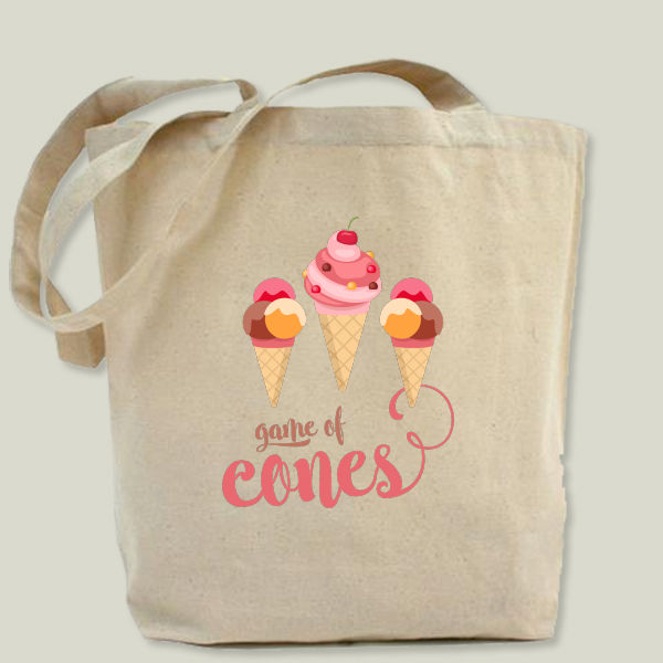 """Game of cones"" Tote Bag by BBP Artist thefunkyartshop"