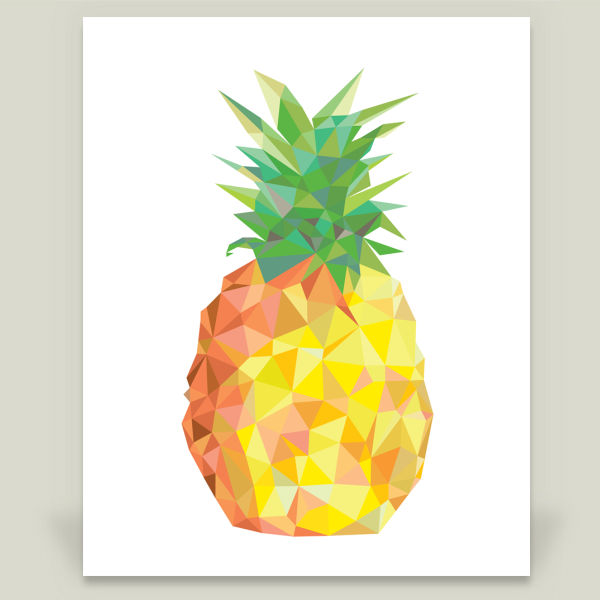 """Pineapple"" by About Mika, BoomBoom Prints"