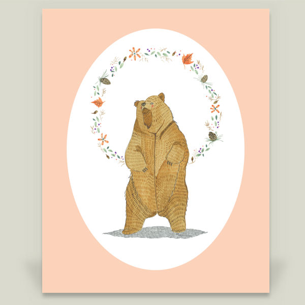 """Autumn Bear"" by Barbara Azul, BoomBoom Prints"