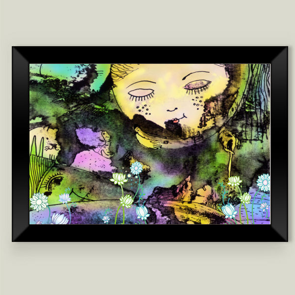 """dream Alice"" Framed Art Print by BBP Artist Gurinov Valery"
