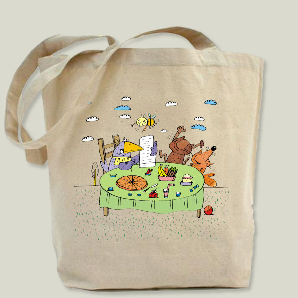 """funny animals"" Tote Bag by BBP Artist Gurinov Valery"