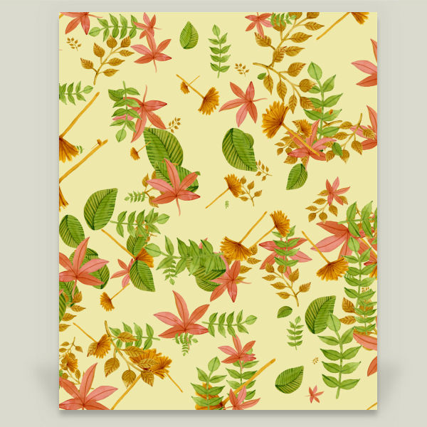 """Vintage Autumn Foliage"" by Gaspar Avila, BoomBoom Prints"
