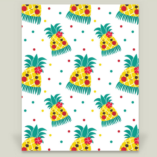 """Miss Hawaiian Pineapple"" b y Haidi Shabrina, BoomBoom Prints"