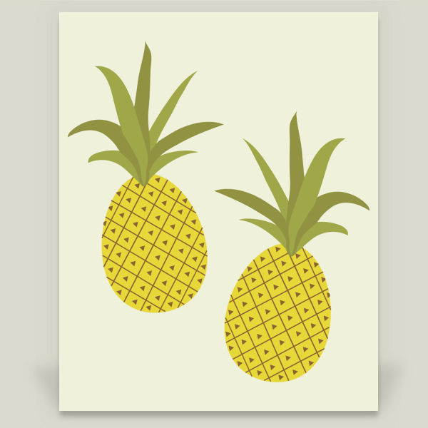 """It's Raining Pineapples"" by Karin Bijlsma, BoomBoom Prints"