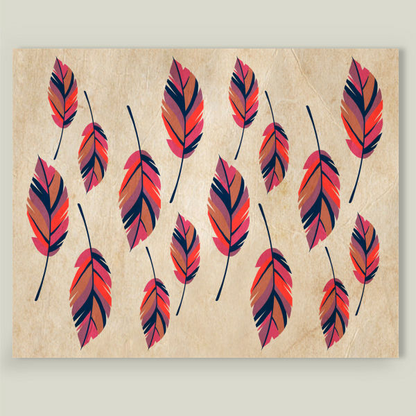 """Scattered Feathers"" by Kat Rutt Design, BoomBoom Prints"