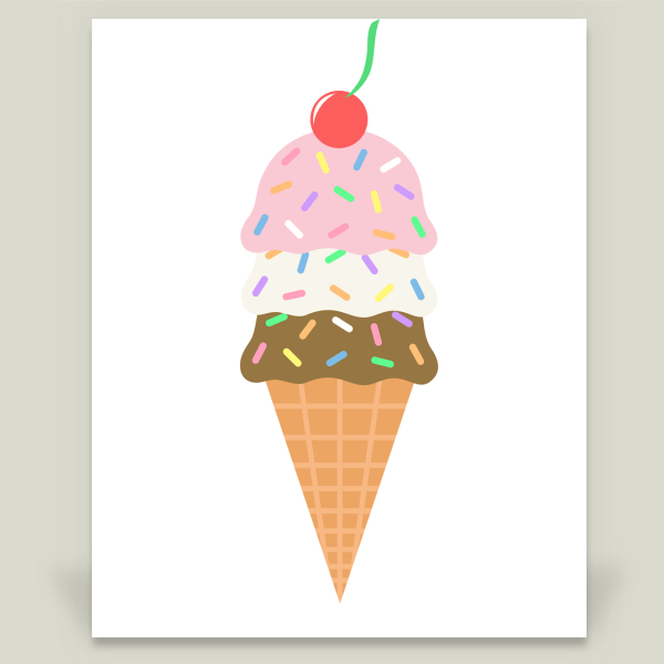 """Ice Cream and Sprinkles"" by Kimberly Theresa Designs, BoomBoom Prints"