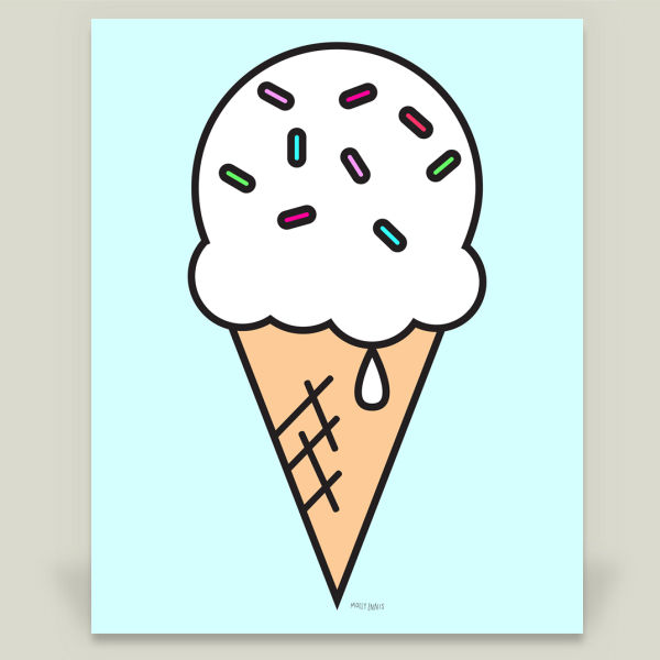 """Vanilla Ice Cream"" by Molly Ennis, BoomBoom Prints"