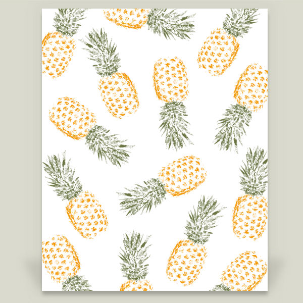 """Pineapple"" by Rui Faria, BoomBoom Prints"