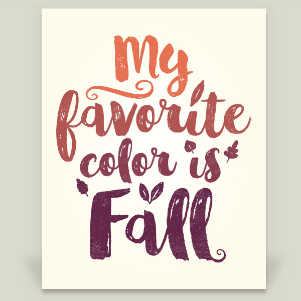"""My Favorite Color is Fall"" by Sugar and Bean, BoomBoom Prints"