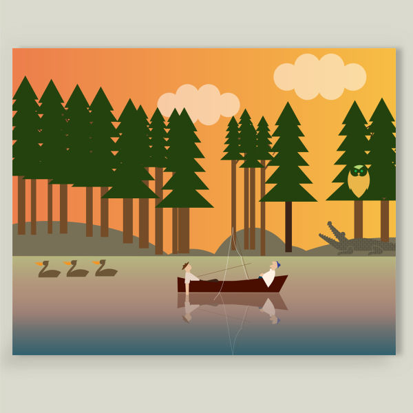 """Sunset in the swamp"" Art Print by BBP Artist Design4uStudio"