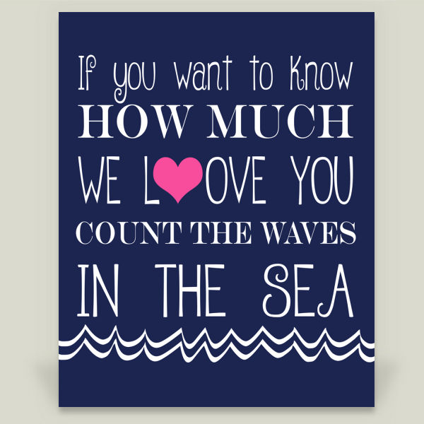 """Count the Waves in the Sea"" Wall Cling by BBP Artist KBlanton Graphics"